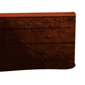 深棕色的卡通木头箱子免抠图