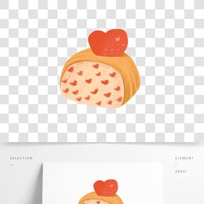 手繪食物面包插畫