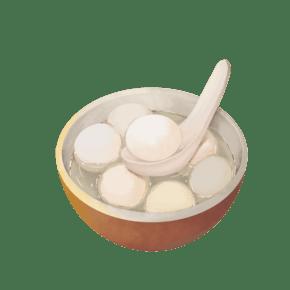 一碗热腾腾的汤圆