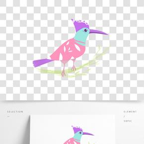 春天甜美可愛的簡約風卡通小鳥