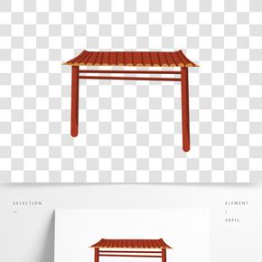 中國風建筑免摳圖