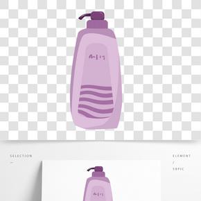 手繪紫瓶洗發露插畫