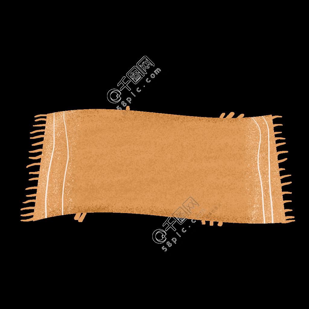 橙色地毯免抠元素