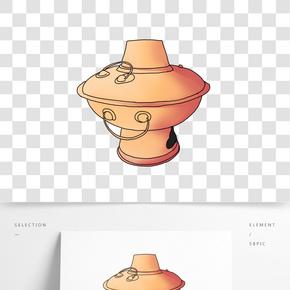手繪冬季美食火鍋插畫