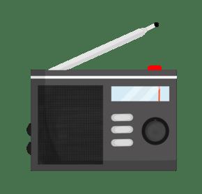 黑色的收音机插画