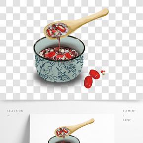 臘八粥手繪卡通png圖片