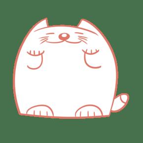 卡通小胖猫创意对话框文本框