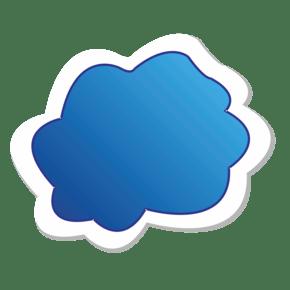 扁平化蓝色矢量对话框