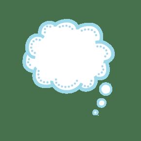 云朵蓝色可爱卡通对话框