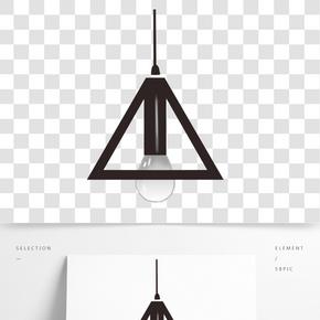 燈具剪影矢量素材圖片