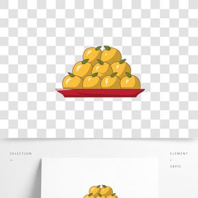 手繪水果橘子插畫
