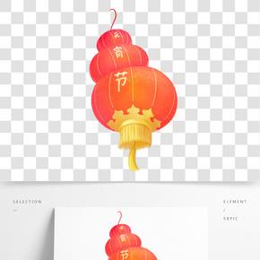 卡通手繪中國風元宵節插畫紅燈籠