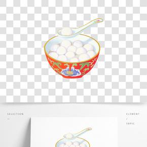 卡通手繪中國風元宵節插畫元宵