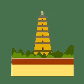 地标性建筑西安大雁楼