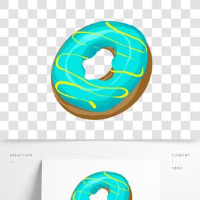 棕色奶油甜甜圈插畫