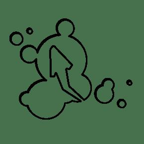 泡泡箭头涂鸦装饰图案免费下载