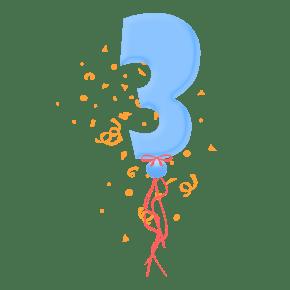 气球字体装饰图案免费下载