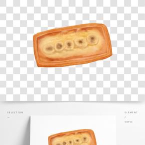 手繪寫實食物之各種美味面包免費下載