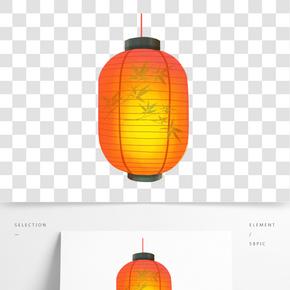 卡通手繪中國風元宵節插畫紙燈