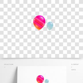 糖果色氣球飛揚裝飾