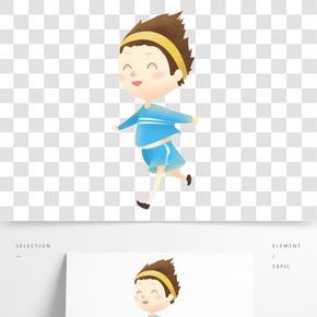 运动中的小女孩 在风中跑步