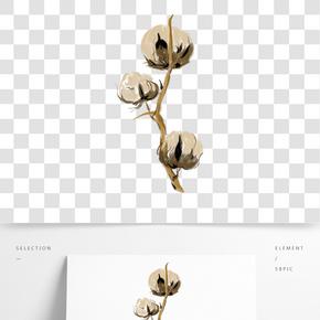 清新花朵寫實繪畫