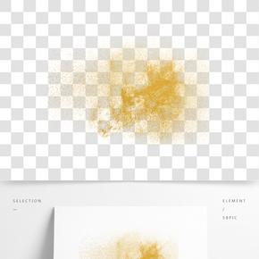 金色粉尘装饰图案
