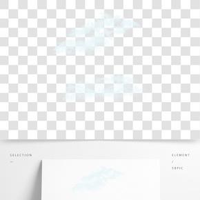 白色天氣云朵裝飾素材
