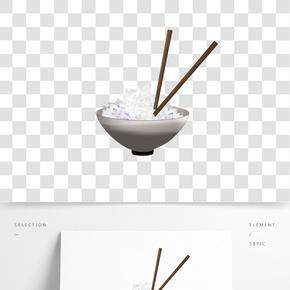 一碗熱騰騰的米飯插圖