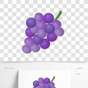 淺紫色水晶葡萄素材元素