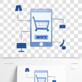 手繪手機網絡購物