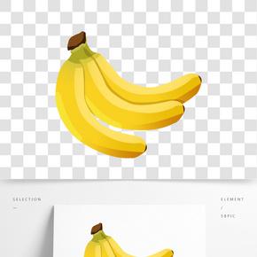 扁平風平面香蕉素材元素