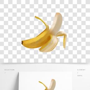 手繪扒皮香蕉素材元素