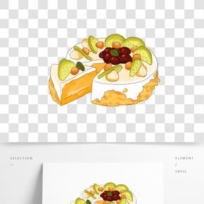 插畫手繪生日蛋糕