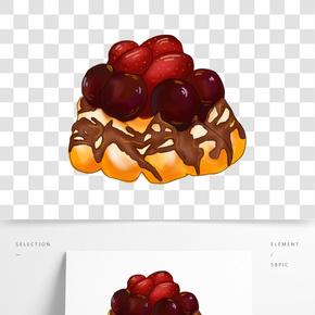 插畫手繪水果蛋糕