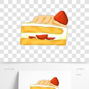 插畫手繪草莓蛋糕