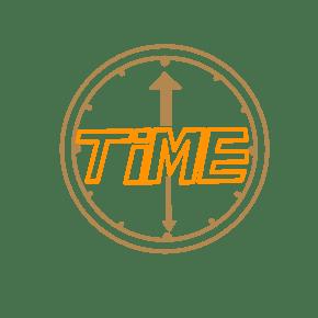 英文TIME创意字体PNG
