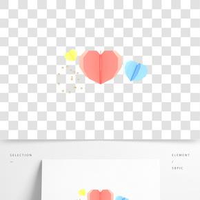 C4D立體情人節電商海報裝飾
