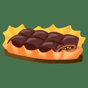 情人节卡通手绘甜品美食之咬一口的巧克力