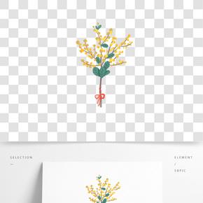 手繪可愛小清新花束