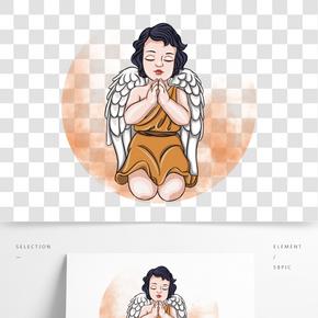 情人節祈禱的丘比特小天使