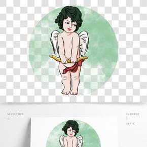 情人節拿著弓的丘比特小天使