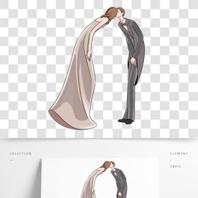 情人節接吻的情侶