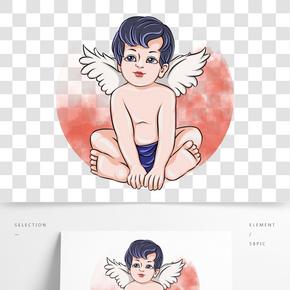情人節坐著的丘比特小天使