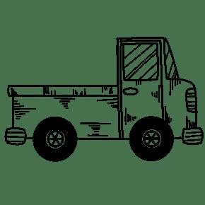 线描卡车?#21482;?#25554;画