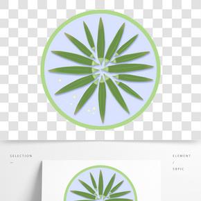 一盤手繪白灼秋葵蔬菜