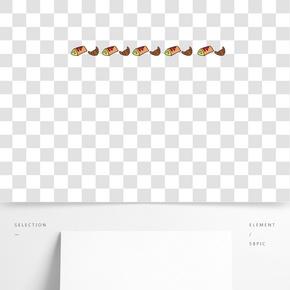 面包分割線手繪插畫