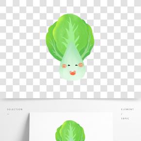 拟人的可爱青菜图案