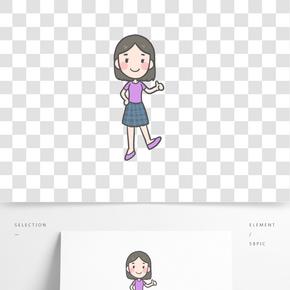 短裙年輕女孩PNG