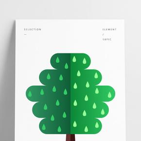 左右兩綠色系創意樹